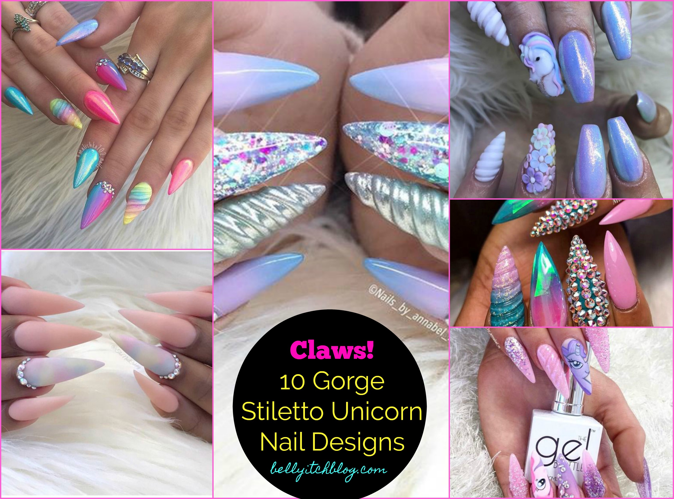 10 Great Unicorn Stiletto Nails to Get Today!