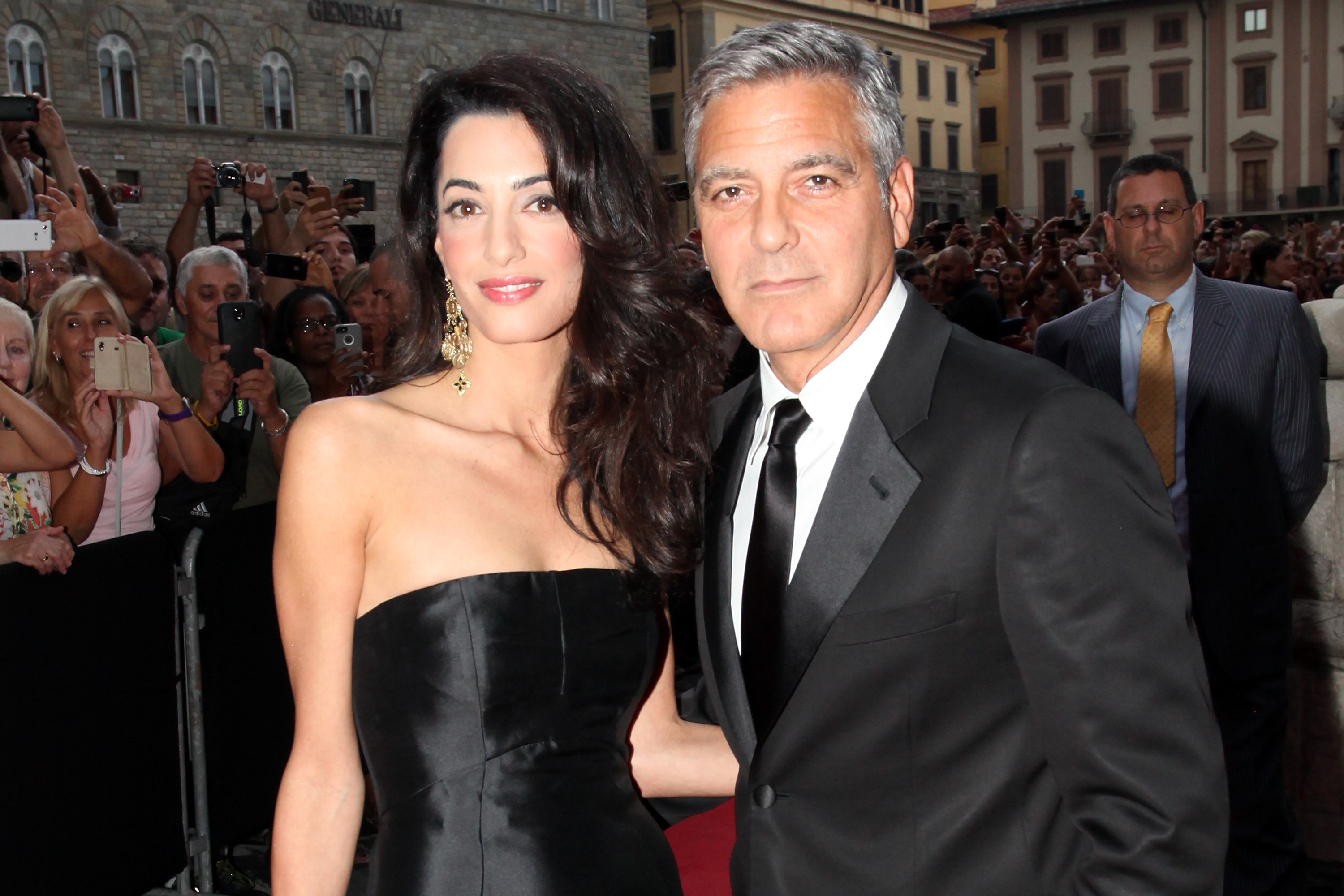 amal and george clooney photo