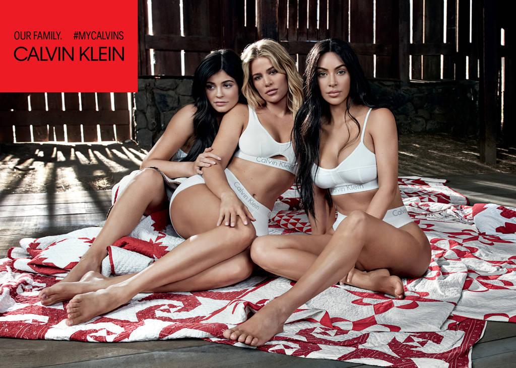 Kylie Jenner,  Khloe Kardsahian and Kim Kardashian-West for Calvin Klein #MyCalvins campaign