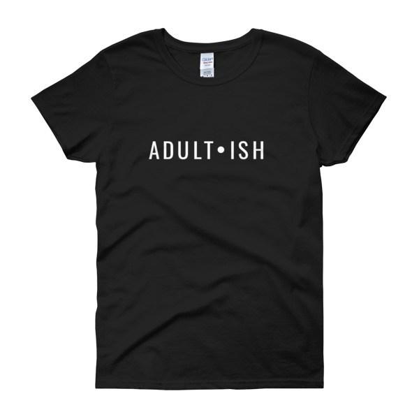 adultish tee mockup