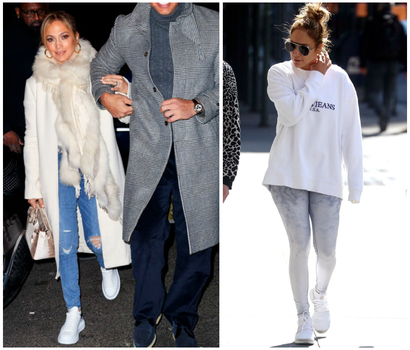 You Could Never: JLo Rocks Trainers Night and Day