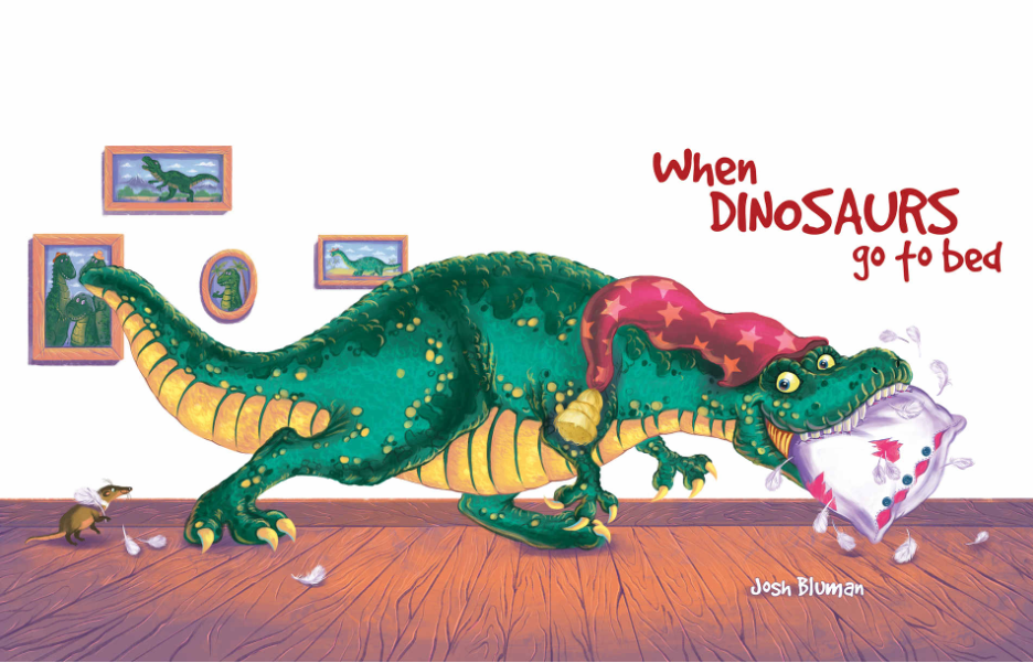 cover of when dinosaurs go to bed book