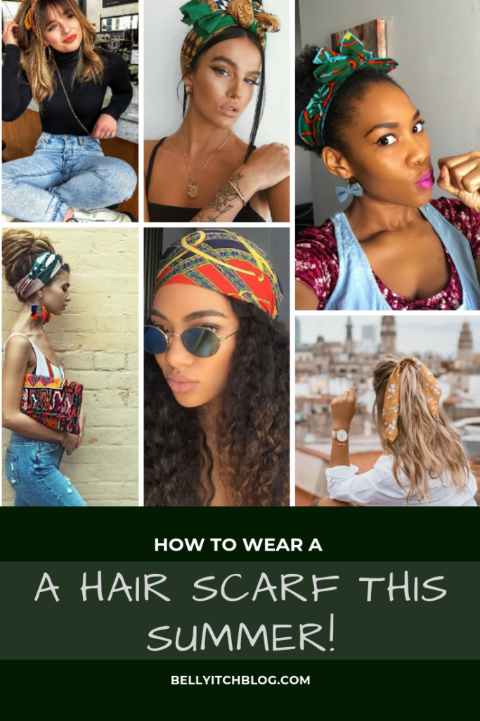 pinterest graphic for how to wear a hair graphic