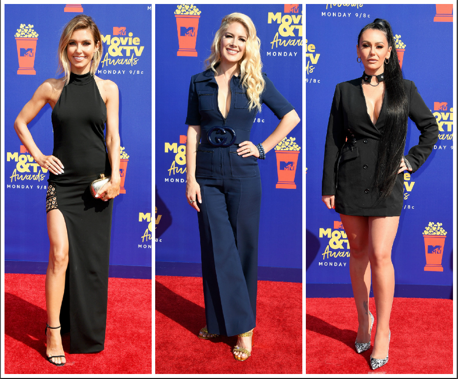 Audrina Patridge, Heidi Montag and Jennifer Farley at MTV Movie and TV Awards